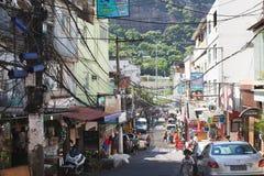 Favela i Brazi Arkivfoto