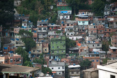 Favela i Rio De Janeiro Royaltyfri Bild