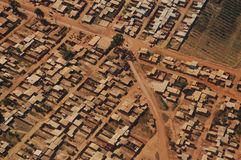Favela: Lucht Mening Stock Afbeelding