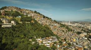 Favela Morro DOS Prazeres i Rio de Janeiro arkivbilder