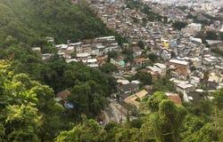Favela Morro DOS Prazeres i Rio de Janeiro royaltyfria foton