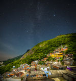 Favela night Stock Photos
