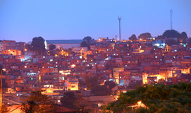 Favela in night time Stock Photography