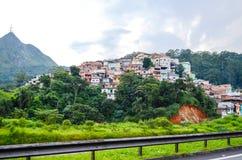 Favela no subúrbio de Sao Paulo, Brasil Imagens de Stock