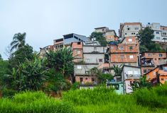 Favela no subúrbio de Sao Paulo, Brasil Imagens de Stock Royalty Free
