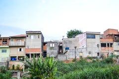 Favela no subúrbio de Sao Paulo, Brasil Fotografia de Stock