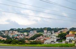 Favela no subúrbio de Sao Paulo, Brasil Imagem de Stock Royalty Free