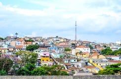 Favela no subúrbio de Sao Paulo, Brasil Foto de Stock Royalty Free