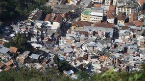 Favela in Rio de Janeiro, Brazilië stock foto's
