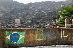 Favela Rocnha 免版税库存照片