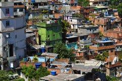 Favela Rocinha, Rio de Janeiro. A view on Rocinha - the biggest favela of Rio de Janeiro, Brasil. Poor houses Stock Photo