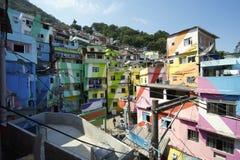 Favela Santa Marta Rio de Janeiro Brazil fotografie stock libere da diritti