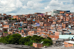 Favela a Sao Paulo Fotografia Stock Libera da Diritti