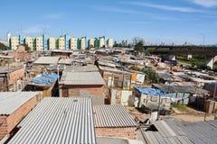 Favela in Sao Paulo city. Royalty Free Stock Photo
