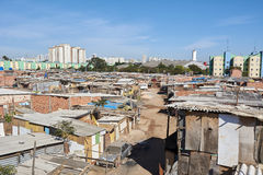 Favela Slum in Sao Paulo city. Stock Photography