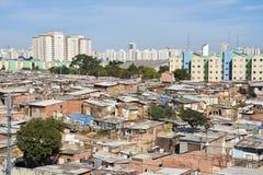 Favela Slum in Sao Paulo city. Stock Image