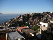 Favela Vidigal το πρωί στοκ εικόνες