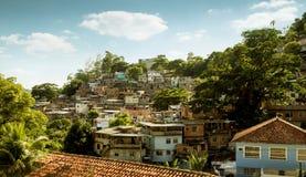 Favela w Cosme Velho okręgu Rio De Janeiro, Brazylia zdjęcia stock
