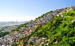 Favelas in Rio de Janeiro. Royalty Free Stock Photo