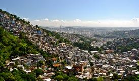 Favelas in Rio de Janeiro. Favelas near Santa Teresa in Rio de Janeiro, Brazil Stock Images