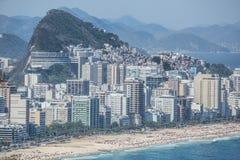 Favelas. Rio de Janeiro, Brasil. The favelas and the city. Rio de Janeiro, Brasil Stock Photo