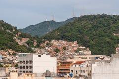 The favelas of Rio de Janeiro. Rio de Janeiro, Brazil - December 21, 2012: The favelas of Rio de Janeiro, Brazil stock photography
