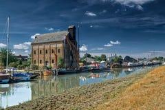 Faversham河前面 库存图片