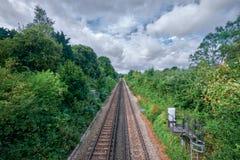 Faversham火车轨道 库存照片