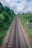 Faversham火车轨道 免版税库存图片