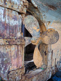FAVERSHAM, KENT/UK - 29 Maart: Het pellen van geschuurd verfwerk op BO Royalty-vrije Stock Fotografie