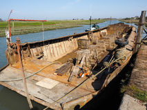 FAVERSHAM, KENT/UK - MARCH 29 : Dry dock on the Swale at Faversh Stock Photography