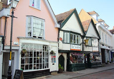 Faversham old town shops Royalty Free Stock Image