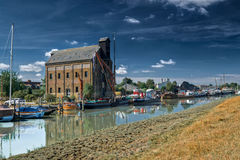 Faversham river front. A riverfront view of the Faversham warehouse Stock Images