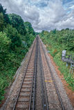 Faversham train tracks. Train tracks leading for Faversham, a small UK town Stock Photo