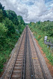 Faversham train tracks. Train tracks leading to Faversham UK Royalty Free Stock Images