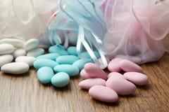 Faveur colorée différente de sucrerie images libres de droits