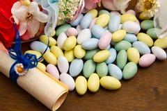 Faveur colorée différente de sucrerie photos libres de droits