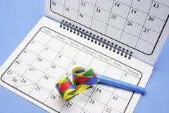 Faveur et calendrier de réception photographie stock libre de droits