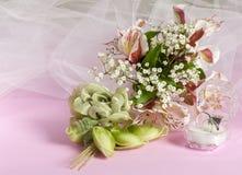 Faveurs d'anneau et de mariage Image libre de droits