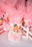 Faveurs roses de sucrerie Images libres de droits