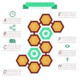 Favi di Infographics (esagonali) con le note a piè di pagina royalty illustrazione gratis