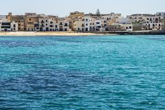 Favignana. The beach at port of Favignana Island, Sicily, Italy Stock Photo