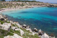 Favignana beach Royalty Free Stock Photo