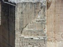 Favignana - Detail des Tuffsteinbruchs Stockfoto