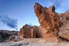 Favignana giant tuff cliffs Royalty Free Stock Images