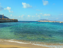Favignana harbor in the early spring, Sicily Royalty Free Stock Photography