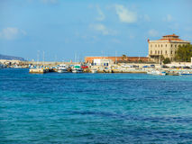 Favignana harbor in the early spring, Sicily Stock Images