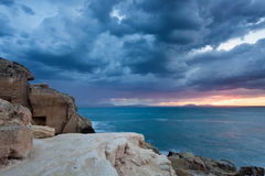 Favignana, Sicily : dramatic sky at sunrise Stock Images