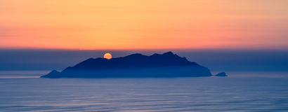 Favignana solnedgång Italien Royaltyfria Bilder