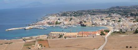 Favignana town, Favignana Island, Sicily, Italy Stock Photos